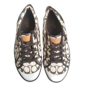 Coach Barrett Signature brown And White sneakers